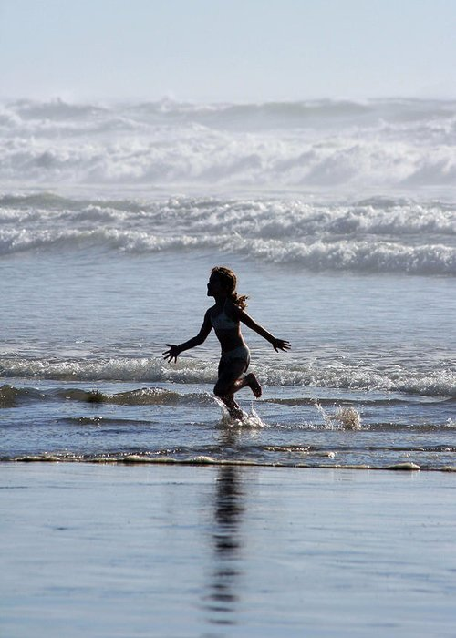 Beach Greeting Card featuring the photograph Come As A Child by Holly Ethan