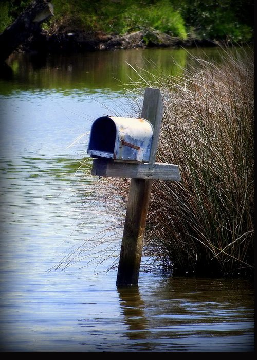 Mailbox Greeting Card featuring the photograph Come Rain Or Shine Or Boat by Karen Wiles
