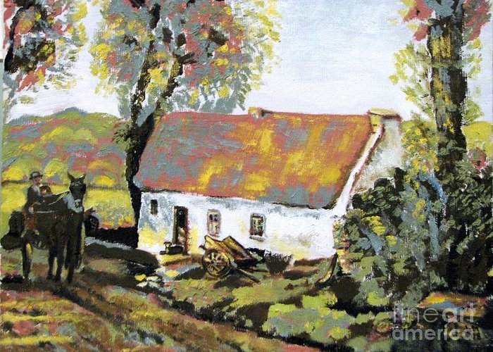 Landscape Greeting Card featuring the painting Coming Home by Laurel Anderson-McCallum