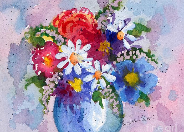 Daisies Greeting Card featuring the painting Company Again by Kimberlee Weisker
