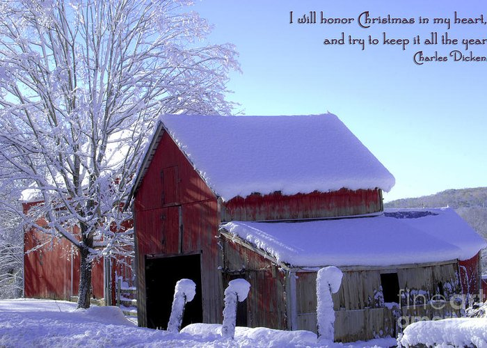 Winter Greeting Card featuring the photograph Connecticut Christmas Connecticut Usa by Sabine Jacobs