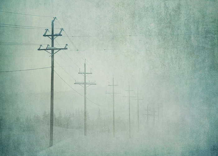 Bleak Greeting Card featuring the photograph Connenction by Priska Wettstein