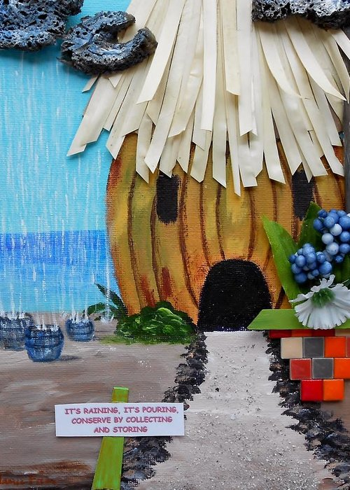 Beach Hut Greeting Card featuring the painting Conserve by Jamie Frier