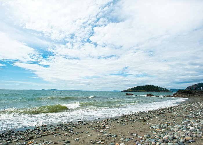 Rocky West Coast Beach Shore Greeting Card featuring the photograph Constant by Artist and Photographer Laura Wrede