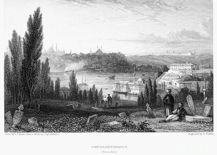 1833 Greeting Card featuring the photograph Constantinople, 1833 by Granger