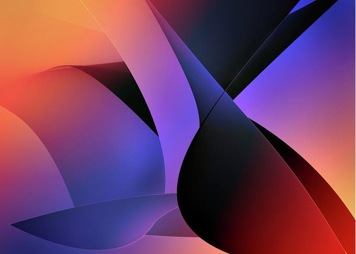 Abstracts Greeting Card featuring the digital art Soulscape 2 by Endre Balogh