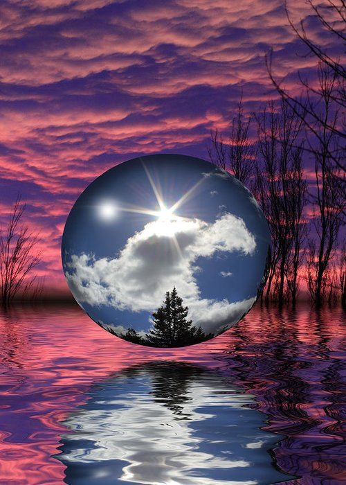 Sphere Greeting Card featuring the photograph Contrasting Skies by Shane Bechler