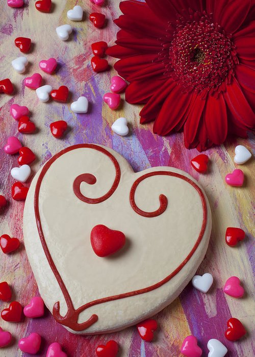 Heart Greeting Card featuring the photograph Cookie And Candy Hearts by Garry Gay