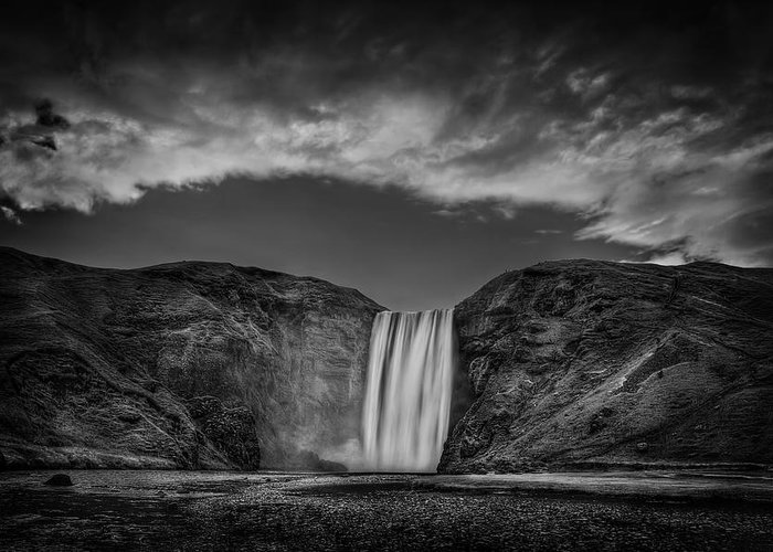 Skogafoss Greeting Card featuring the photograph Cool Sensation by Evelina Kremsdorf