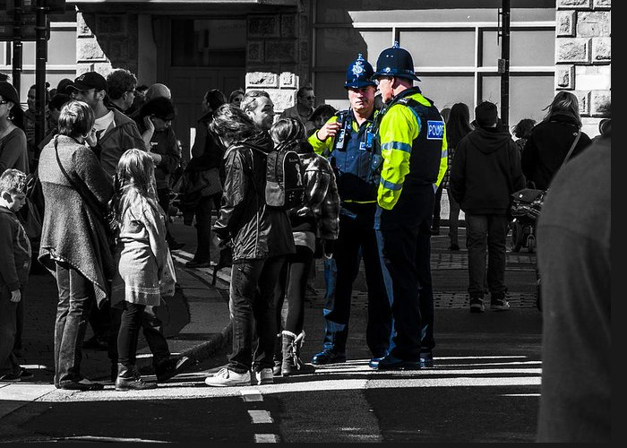 Police Greeting Card featuring the photograph Coppers by Paul Howarth