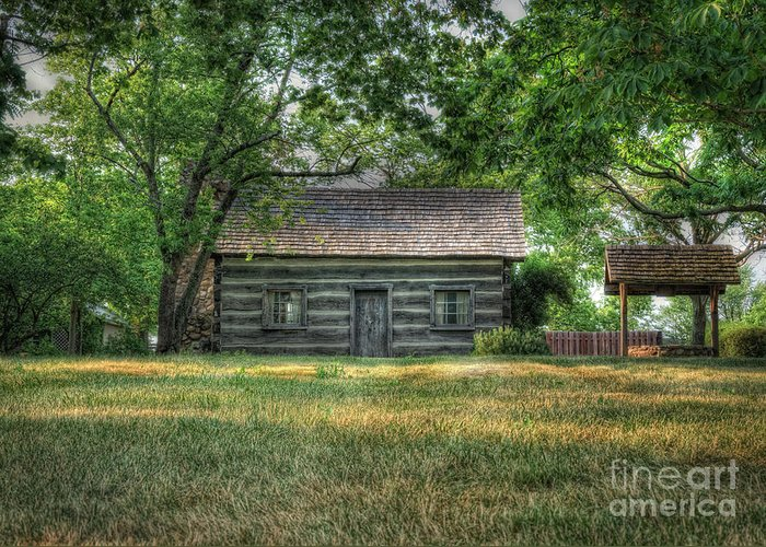 Log Cabin Greeting Card featuring the photograph Corbett's Cabin by Pamela Baker