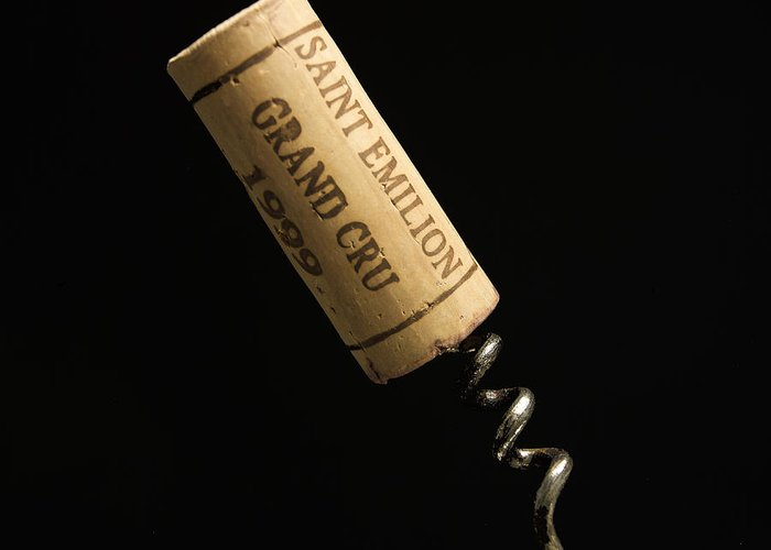 Bouchons Greeting Card featuring the photograph Cork Of Bottle Of Saint-emilion by Bernard Jaubert