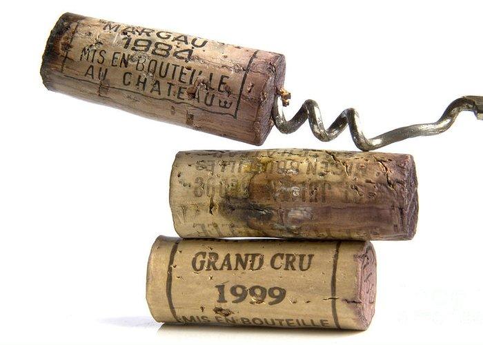 Cork Greeting Card featuring the photograph Cork Of French Wine by Bernard Jaubert