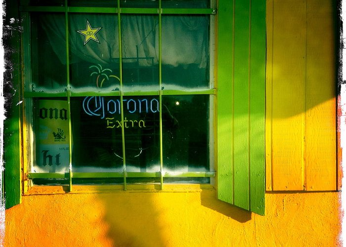 Window Greeting Card featuring the photograph Corona by Suzanne Lorenz
