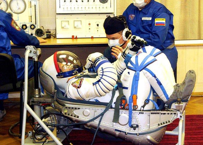 Pavel Vinogradov Greeting Card featuring the photograph Cosmonaut Training, Soyuz Tma-8 Crew by Ria Novosti