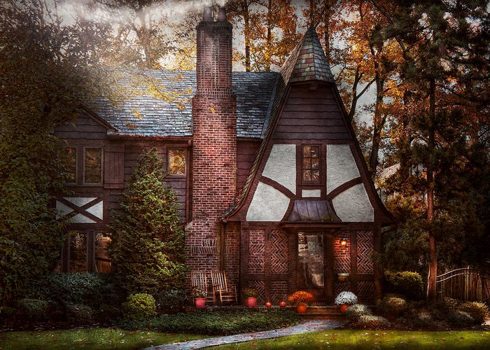 Cottage Greeting Card featuring the photograph Cottage - Westfield Nj - A Place To Retire by Mike Savad