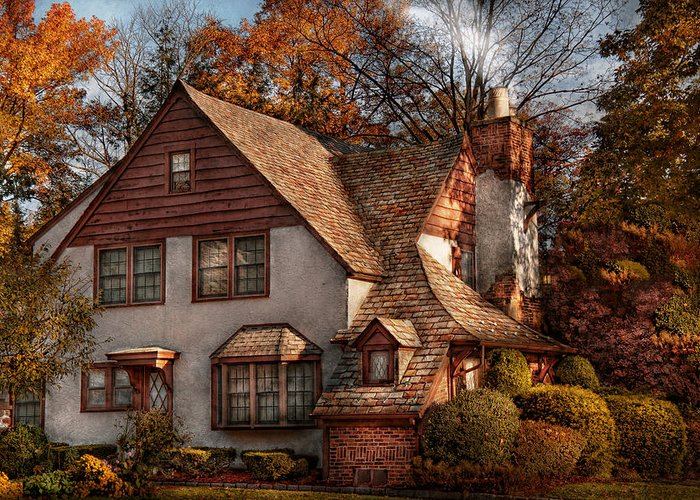 Cottage Greeting Card featuring the photograph Cottage - Westfield Nj - Family Cottage by Mike Savad