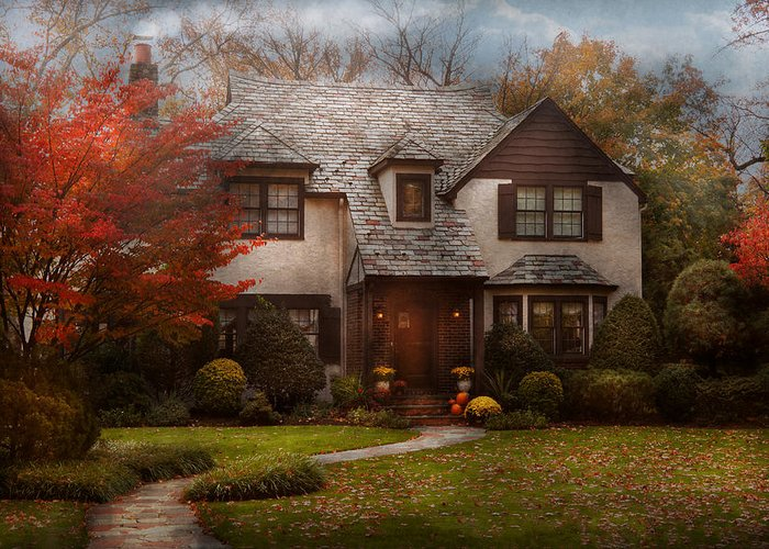 Cottage Greeting Card featuring the photograph Cottage - Westfield Nj - The Country Life by Mike Savad