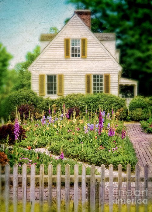 Cottage Greeting Card featuring the photograph Cottage And Garden by Jill Battaglia