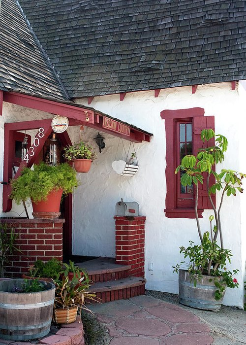 House Exterior Greeting Card featuring the photograph Cottage Charm by Lorraine Devon Wilke