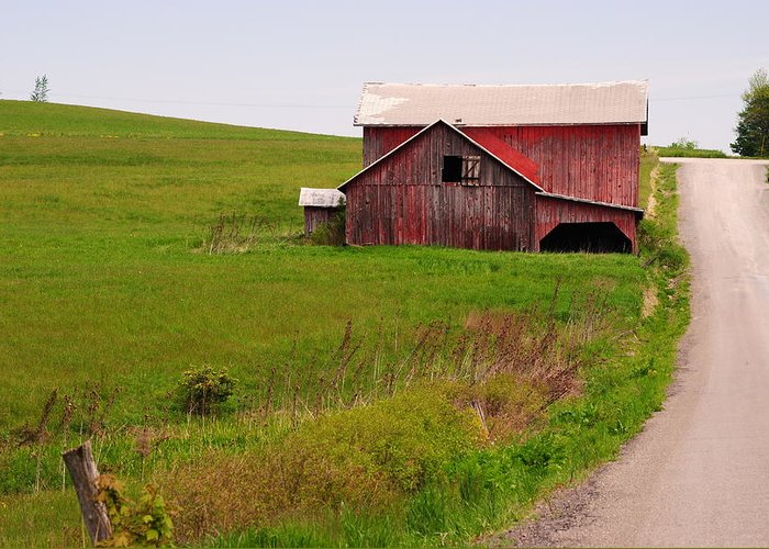 Barn Greeting Card featuring the photograph Country Barn by April Robert