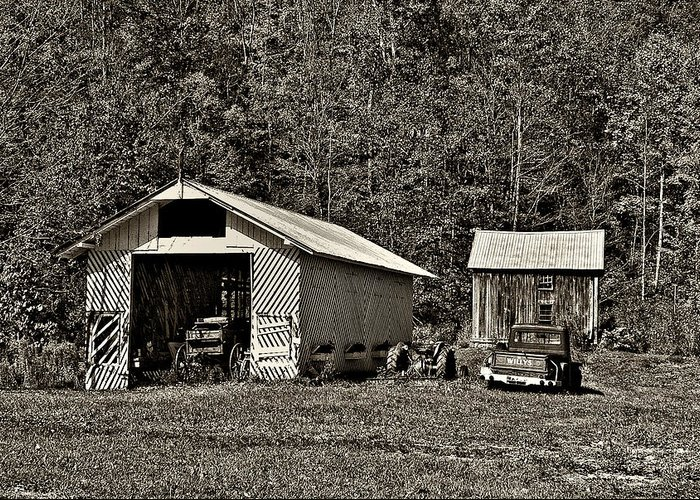 West Virginia Greeting Card featuring the photograph Country Life Sepia by Steve Harrington