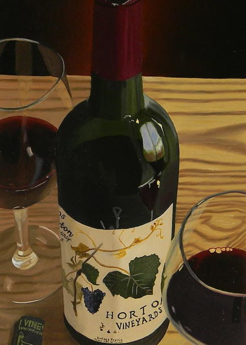 Wine Art Greeting Card featuring the painting Country Livin by Brien Cole
