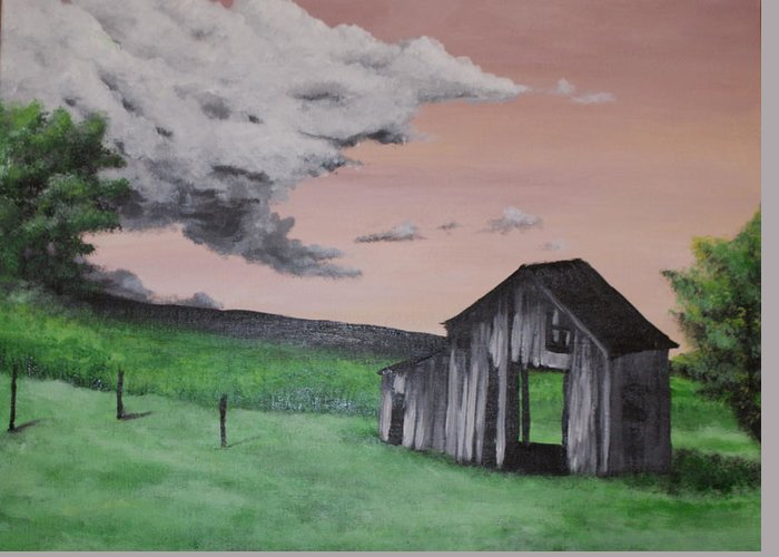 Country Greeting Card featuring the painting Country Living by Sabrina Logan
