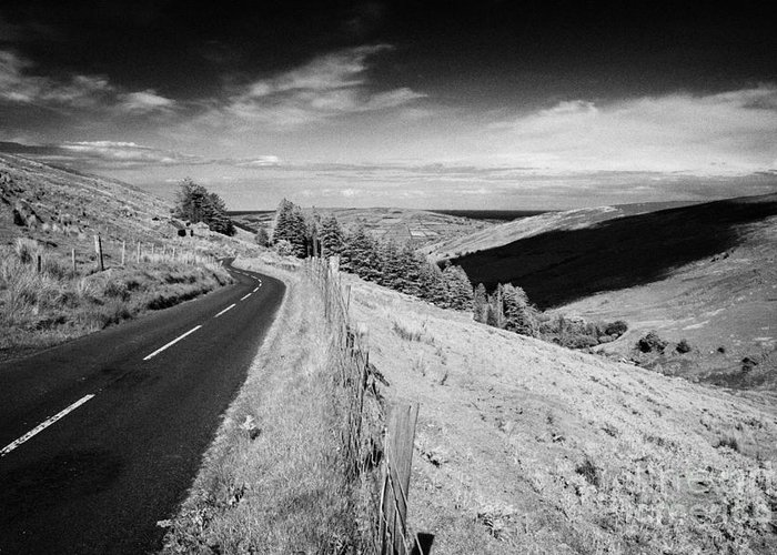 Glenaan Greeting Card featuring the photograph Country Mountain Road Through Glenaan Scenic Route Glenaan County Antrim Northern Ireland by Joe Fox