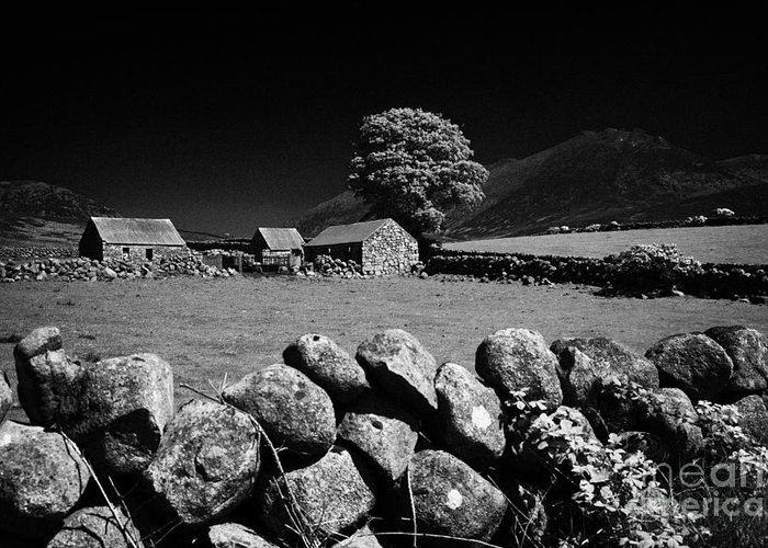Mourne Greeting Card featuring the photograph Countryside Beneath Slieve Binnian In The Mourne Mountains Northern Ireland by Joe Fox