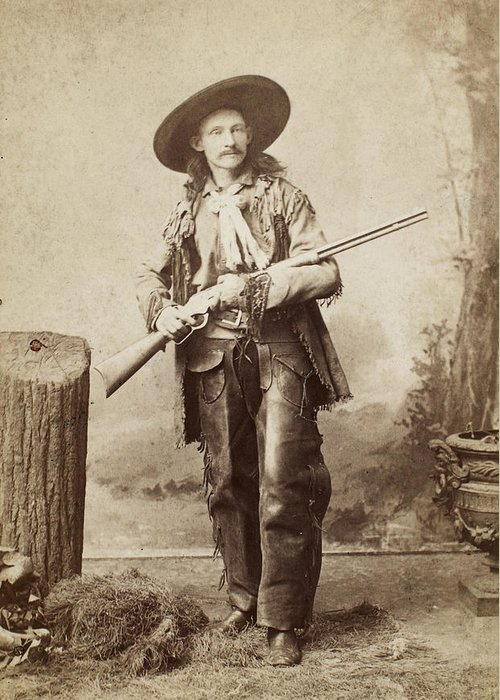 1880s Greeting Card featuring the photograph Cowboy, 1880s by Granger