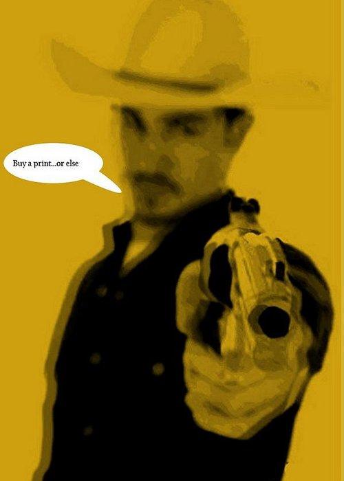 Cowboy Greeting Card featuring the digital art Cowboy by Chandler Douglas