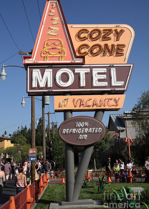 Cozy Cone Motel - Radiator Springs Cars Land - Disney California Adventure  - Anaheim California - 5d Greeting Card