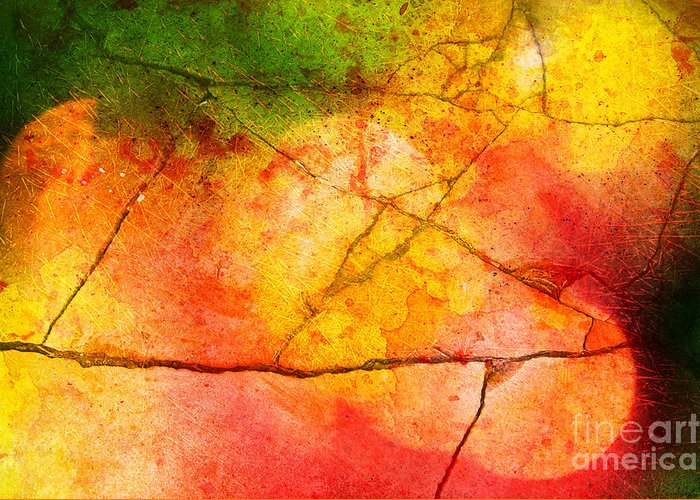 Vibrant Greeting Card featuring the photograph Cracked Kaleidoscope by Silvia Ganora