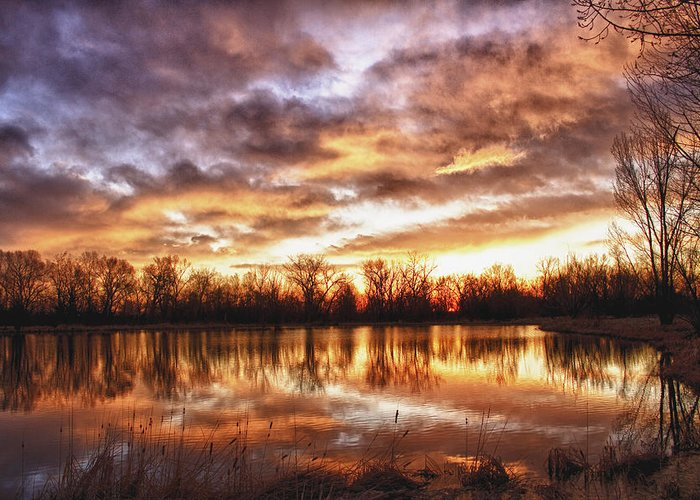 Hdr Greeting Card featuring the photograph Crane Hollow Sunrise Boulder County Colorado Hdr by James BO Insogna