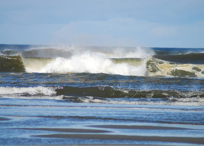 Waves Greeting Card featuring the photograph Crashing Waves by Michael Merry
