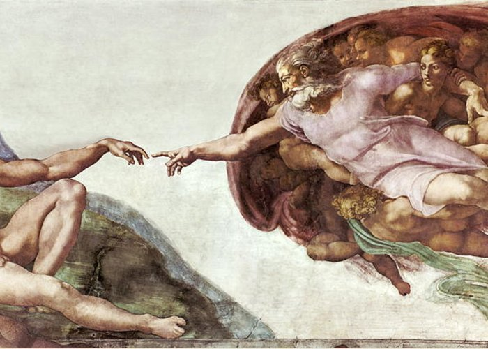 Creation Of Adam Greeting Card featuring the photograph Creation Of Adam by Sheila Terry
