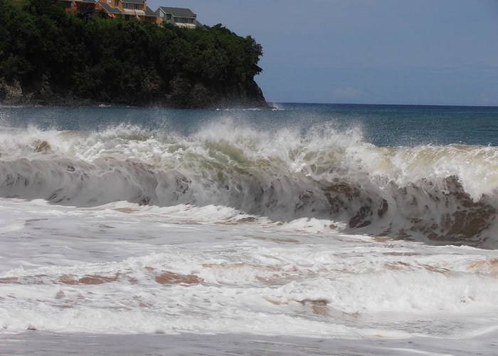 Wave Greeting Card featuring the photograph Cresting Wave by Kimberly Perry