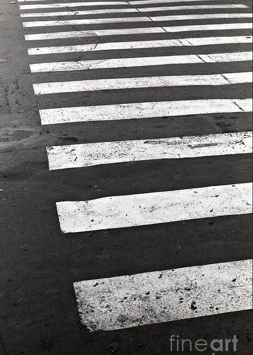 Film Greeting Card featuring the photograph Cross Walk by Gabriela Insuratelu