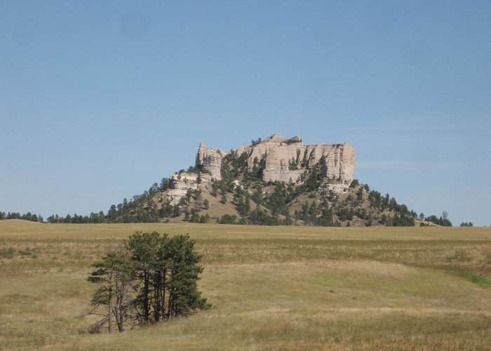 High Plains Greeting Card featuring the photograph Crow Butte by J W Kelly
