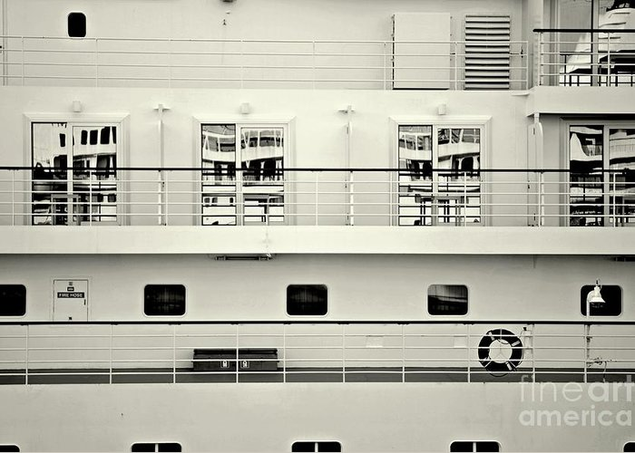 Ship Greeting Card featuring the photograph Cruise Reflections by Dean Harte