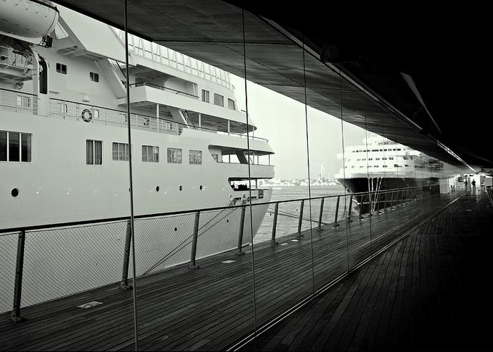 Ship Greeting Card featuring the photograph Cruise Ships by Dean Harte