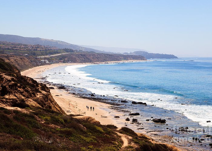 America Greeting Card featuring the photograph Crystal Cove Orange County California by Paul Velgos