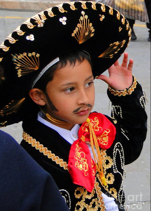 Al Bourassa Greeting Card featuring the photograph Cuenca Kids 28 by Al Bourassa