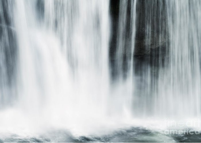 Flowing Water Greeting Card featuring the photograph Cumberland Abstract by Stephanie Frey