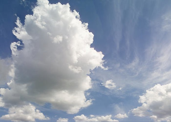 Cumulus Greeting Card featuring the photograph Cumulus Clouds by Peter Scoones