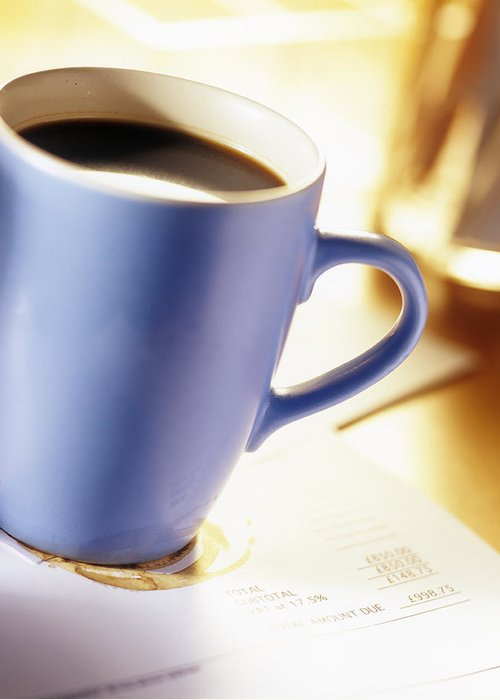 Bill Greeting Card featuring the photograph Cup Of Coffee by Adam Gault