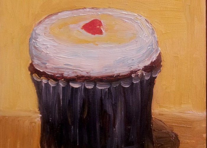 Food Greeting Card featuring the painting Cupcake by Diane Elgin