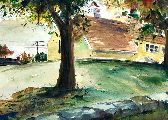 Yard Greeting Card featuring the painting Cupola by Scott Nelson