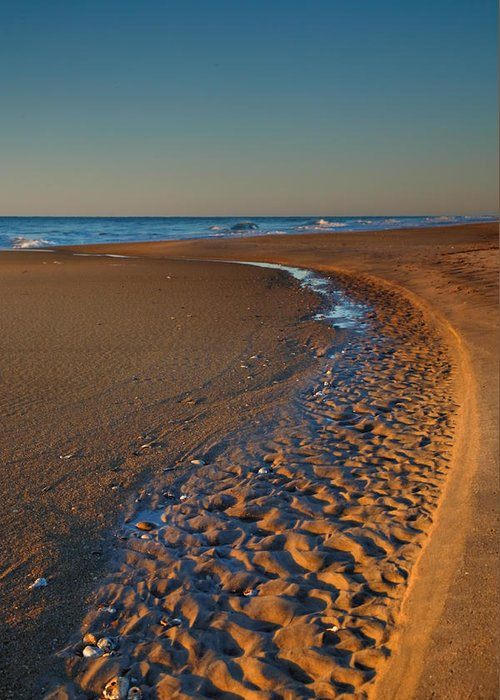 Curve Greeting Card featuring the photograph Curving To The Sea I by Steven Ainsworth